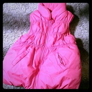 Oshkosh girls puffer vest pink